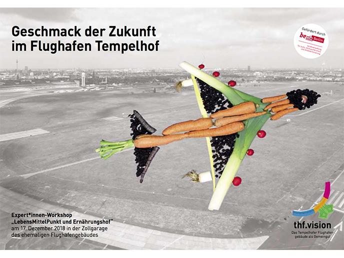Geschmack der Zukunft im Flughafen Tempelhof
