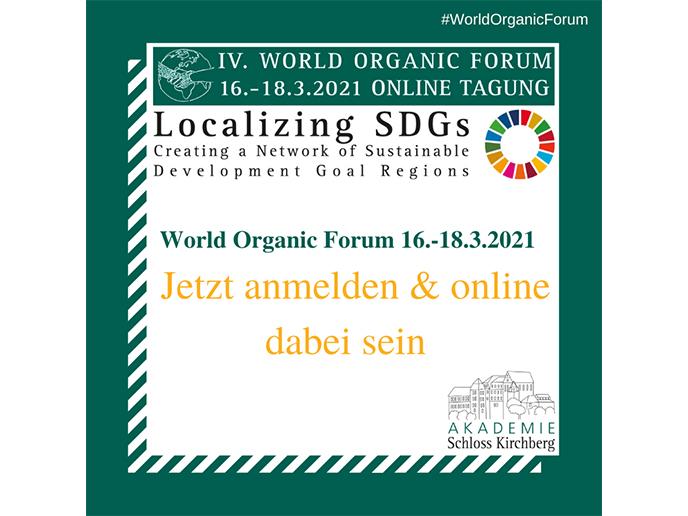 Save the Date: IV. World Organic Forum